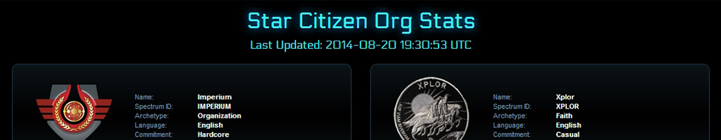 Star Citizen Org Stats screenshot